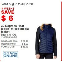 32 Degrees Heat Ladies Mixed Media Jacket