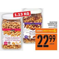 Selection Cashews Or Mixed Nuts