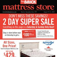The Brick - Mattress Store - Mattress Super Sale Flyer