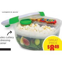 Locksy Click N Go Salad Container
