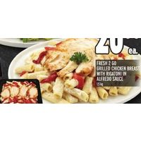 Fresh 2 Go Grilled Chicken Breast With Rigatoni in Alfredo Sauce