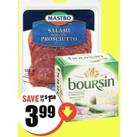 Mastro Salami or Boursin Cheese