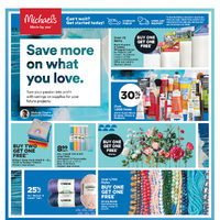 Michaels - Weekly - Save More on What You Love Flyer
