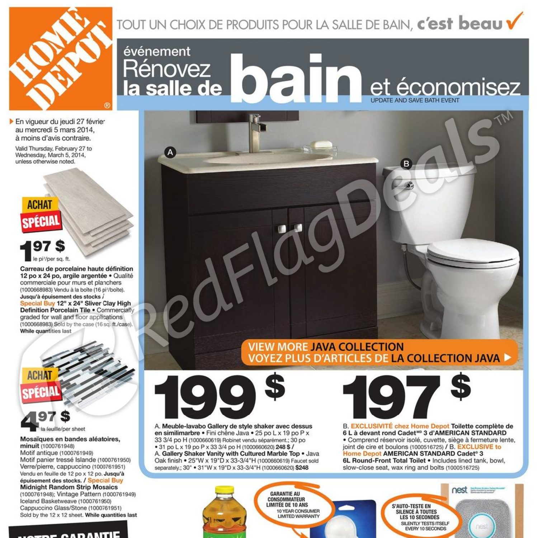 Home Depot Weekly Flyer Circulaire V Nement R Novez La Salle De