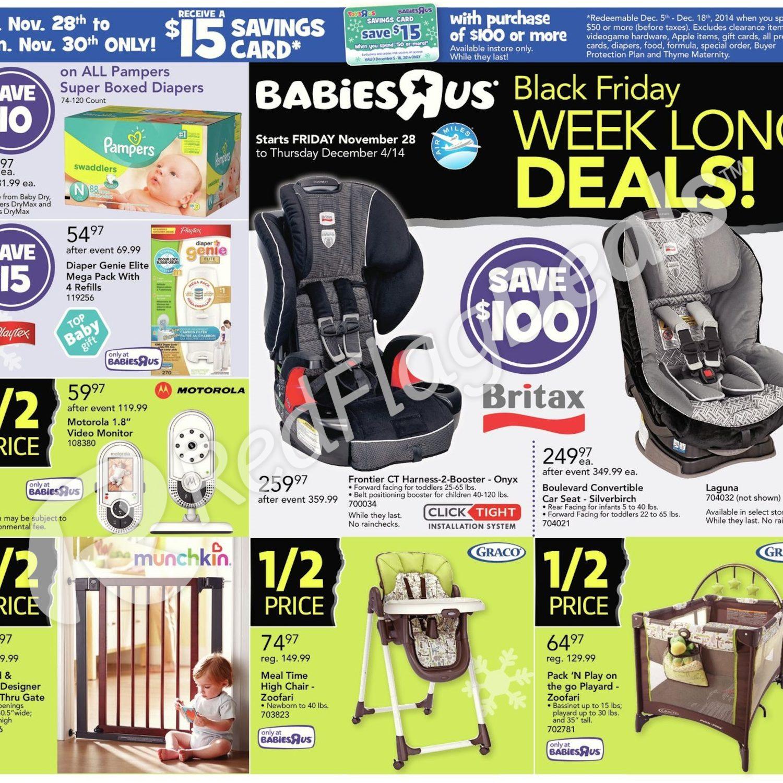 3f2b1de00ab Babies R Us Weekly Flyer - Black Friday Week Long Deals! - Nov 28 – Dec 4 -  RedFlagDeals.com