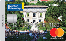 Ryerson University MBNA Rewards Mastercard® credit card