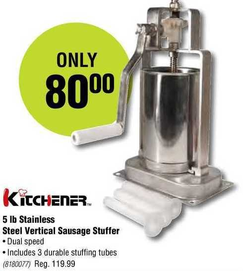Princess Auto: Kitchener 5 Lb Stainless Steel Vertical ...