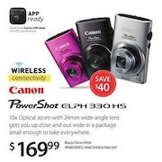 Canon Powershot Elph 330 Hs Digital Camera - $169.99 ($40.00 off)
