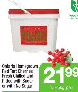 Highland Farms: Ontario Homegrown Red Tart Cherries Fresh Chilled