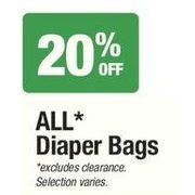 All Diaper Bags  - 20% off