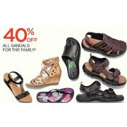 Sandals For The Family  - 40% off