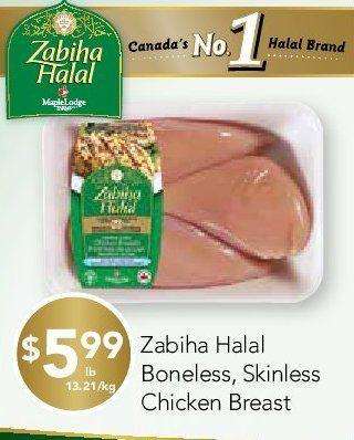 Rabba Fine Foods: Zabiha Halal Boneless, Skinless Chicken