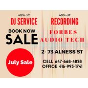 40% off DJ Service and Recording