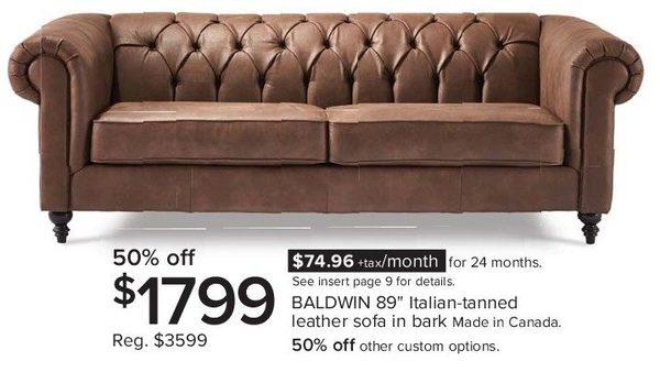 Baldwin Sofa Home And Textiles