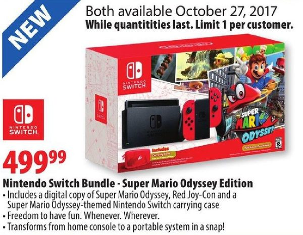 London Drugs Nintendo Switch Bundle Super Mario Odyssey