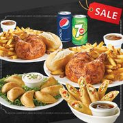 Swiss Chalet Coupons: 2 Quarter Chicken Dinners, 2 Apps + 2 Pop $26 or 2 Quarter Chicken Dinners, 1 App + 1 Slice of Pie $20