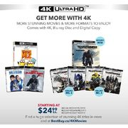 Select 4K UHD Movies - From $24.99