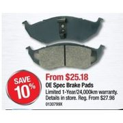 OE Spec Brake Pads - From $25.18 (10% off)