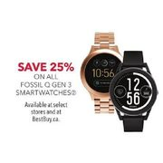 Fossil Q Gen 3 Smartwatches - 25% off