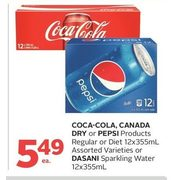 Coca-Cola, Canada Dry or Pepsi Products or Dasani Sparkling Water - $5.49