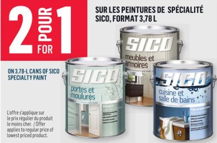 Reno Depot 3 78l Cans Of Sico Specialty Paint Redflagdeals Com