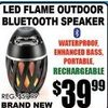 LED Flame Outdoor Bluetooth Speaker - $39.99