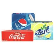 Coca-Cola, Canada Dry Or Pepsi Products Regular Or Diet Dasani Sparkling Water Or Nestea Iced Tea, Fruitaopia, Five Alive Or Dole