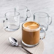Libbey Moderno Glass Coffee Mug - Set of 4 (Clear) - $5.00 (67% off)