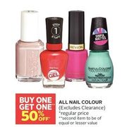 All Nail Colour - BOGO 50% off