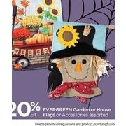 Evergreen Garden or House Flags or Accessories - 20% off