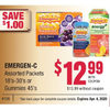 Emergen-C Packets Or Gummies - $12.99/with coupon ($1.00 off)