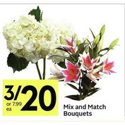 Mix And Match Bouquets  - 3/$20.00