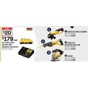 Dewalt 20-V Max Li-Ion Battery and Charger Starter Kit - $179.00 ($20.00 off)