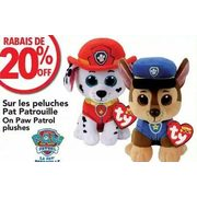 Paw Patrol Plushes - 20% off