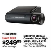 Thinkware Q800PRO 2K Dashcam with Wi-Fi - $249.99 ($80.00 off)