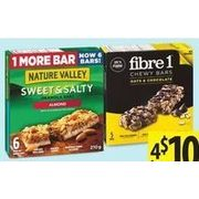 Fiber One, Nature Valley Sweet & Salty Granola Bars - 4/$10.00
