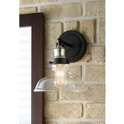 Home Decorators Collections Cyder Falls 1-Light Sconce With Clear Glass Shade - $79.98