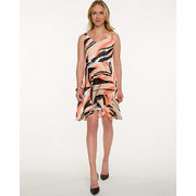 Zebra Print Chiffon V-neck Dress - $14.00 ($125.95 Off)